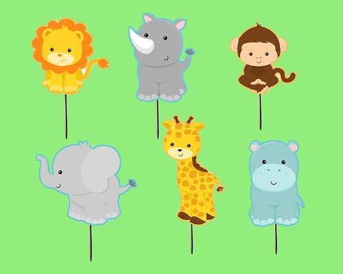 picture regarding Printable Safari Animals referred to as PRINTABLE Safari Jungle Cupcake Toppers WrappersAndStuff