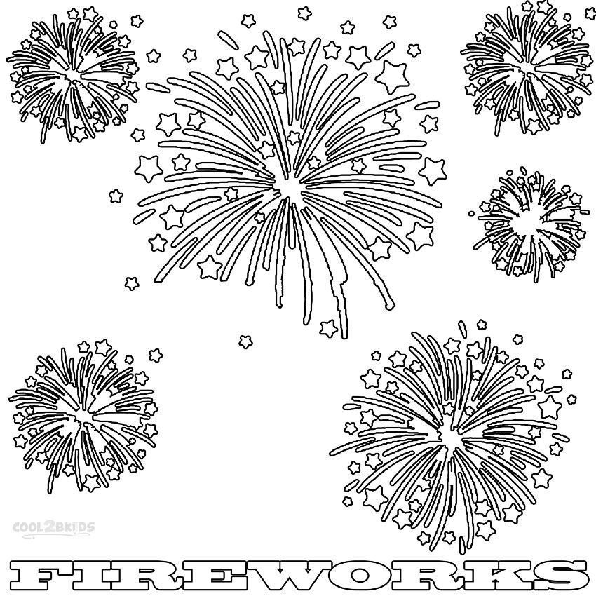 Printable Fireworks Coloring Pages For Kids Cool2bkids Firework Colors Fireworks Art July Colors