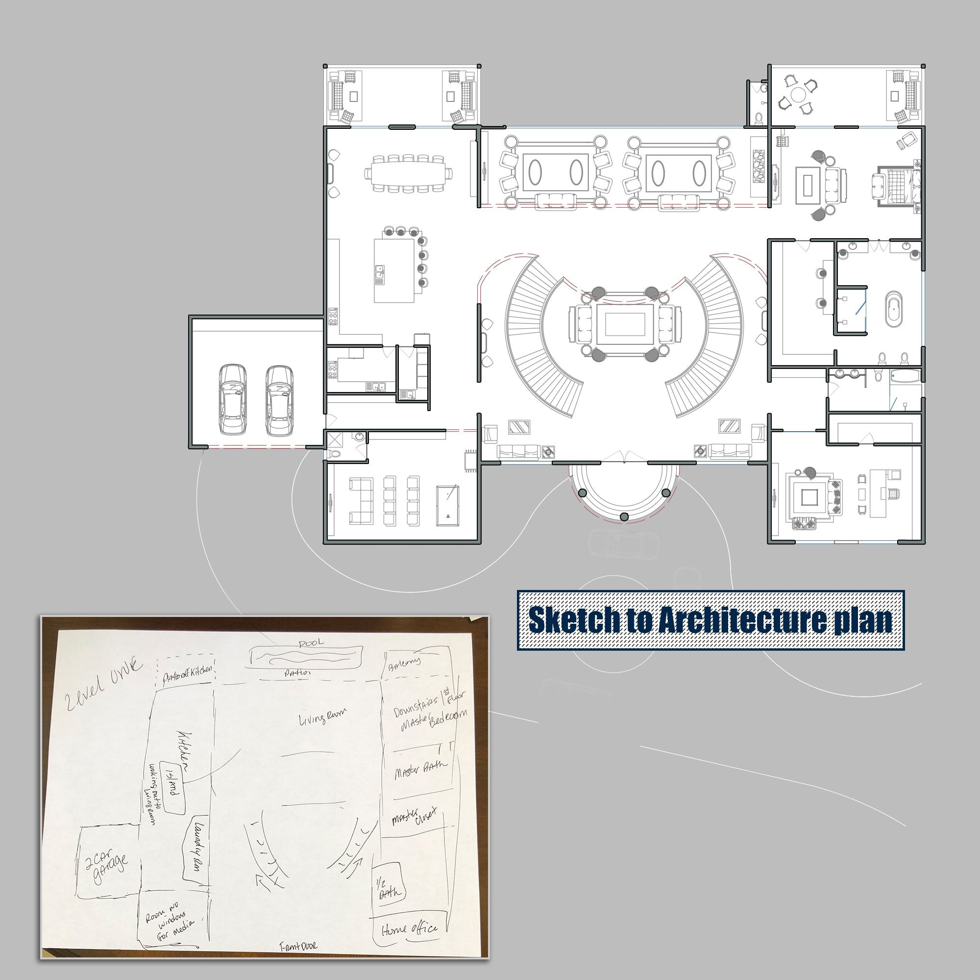 Draw 2d Architecture Autocad Drawings Interior Architecture Design Autocad Drawing Architectural House Plans