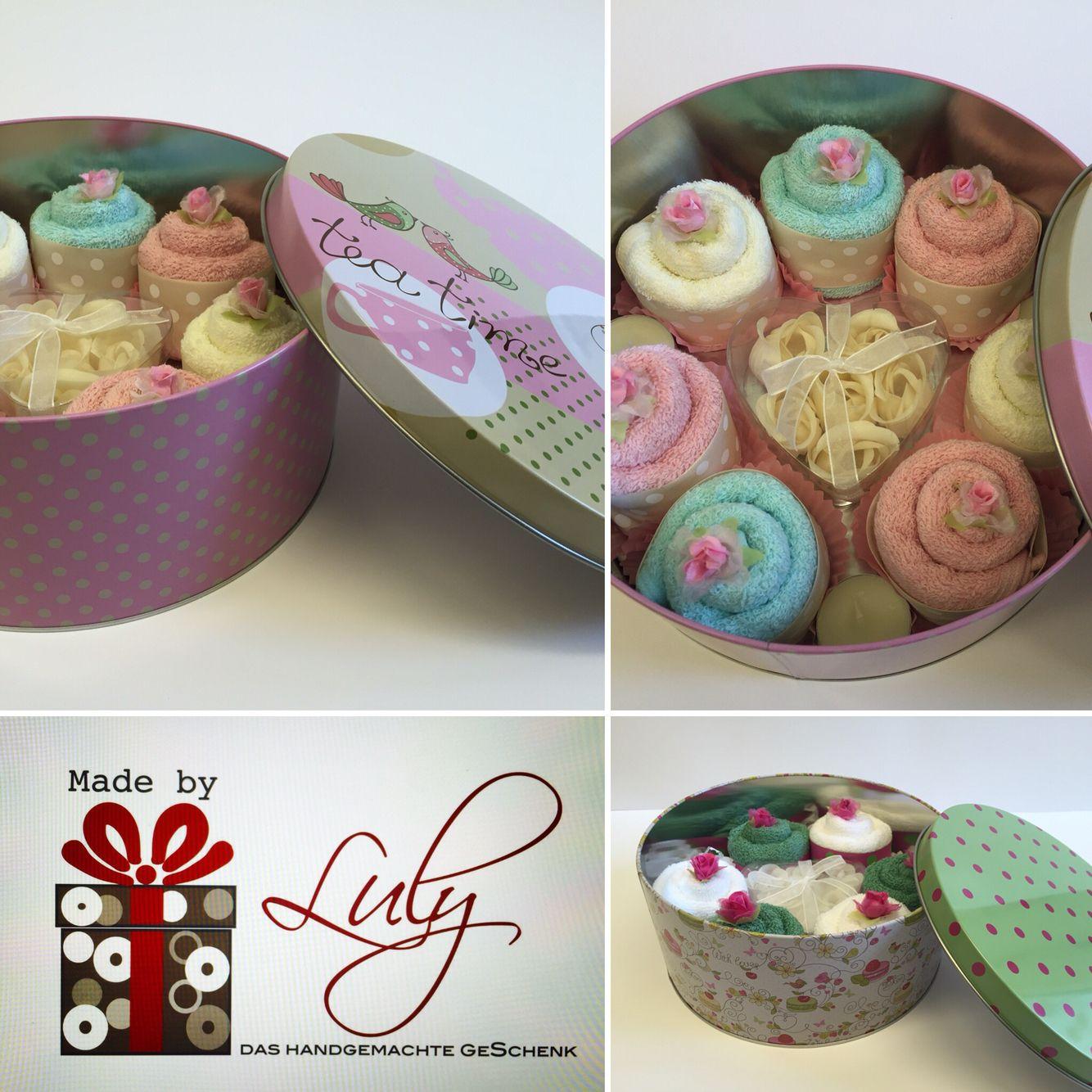handgemachte Geschenk für Sie Cupcakes aus Tücher www.facebook.com/madebyLuly