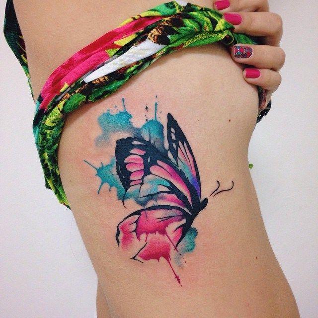 13 Tatuajes de mariposas en acuarela