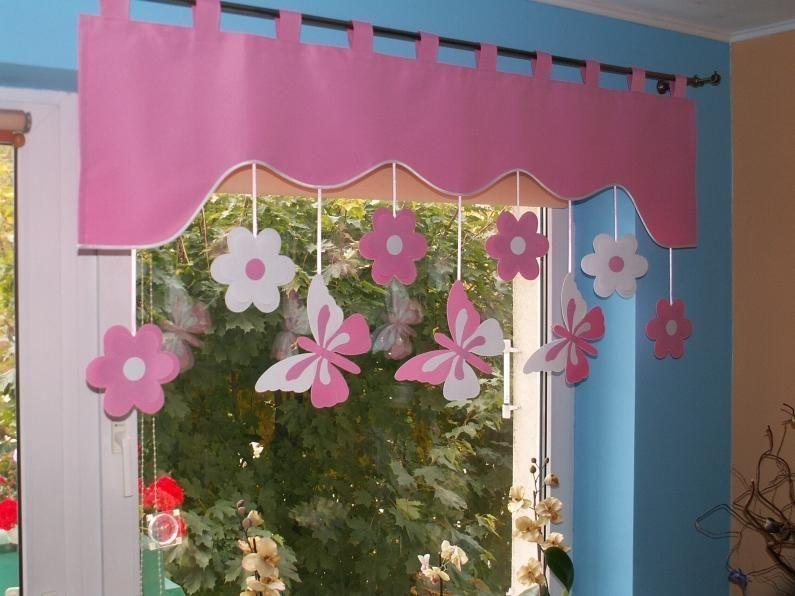 lovely einfache dekoration und mobel fensterdekoration fuer das kinderzimmer #3: Vorhang Querbehang Fensterdeko Kinderzimmer 140 - 160cm Handarbeit  KinderGardine