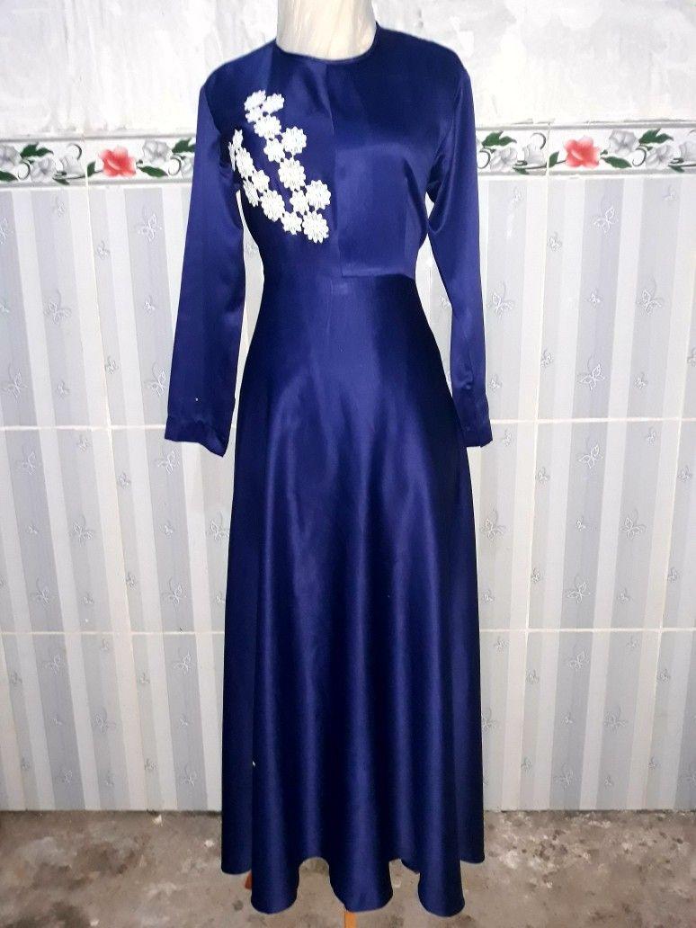 Gaun Pesta Simple Anggun Elegant Gamis