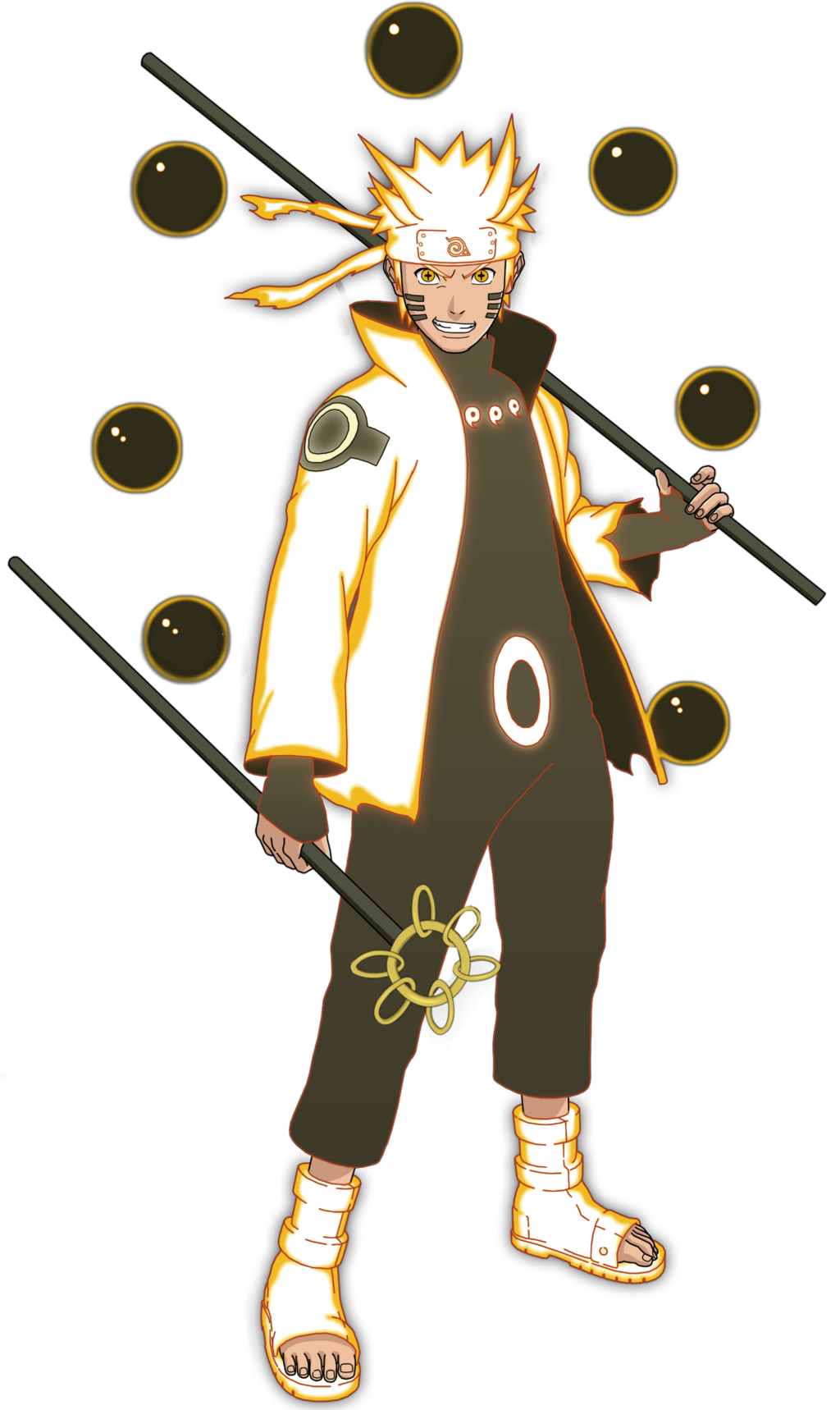Naruto rikudo mode render by vexahadi manga pinterest - Comment dessiner sasuke ...