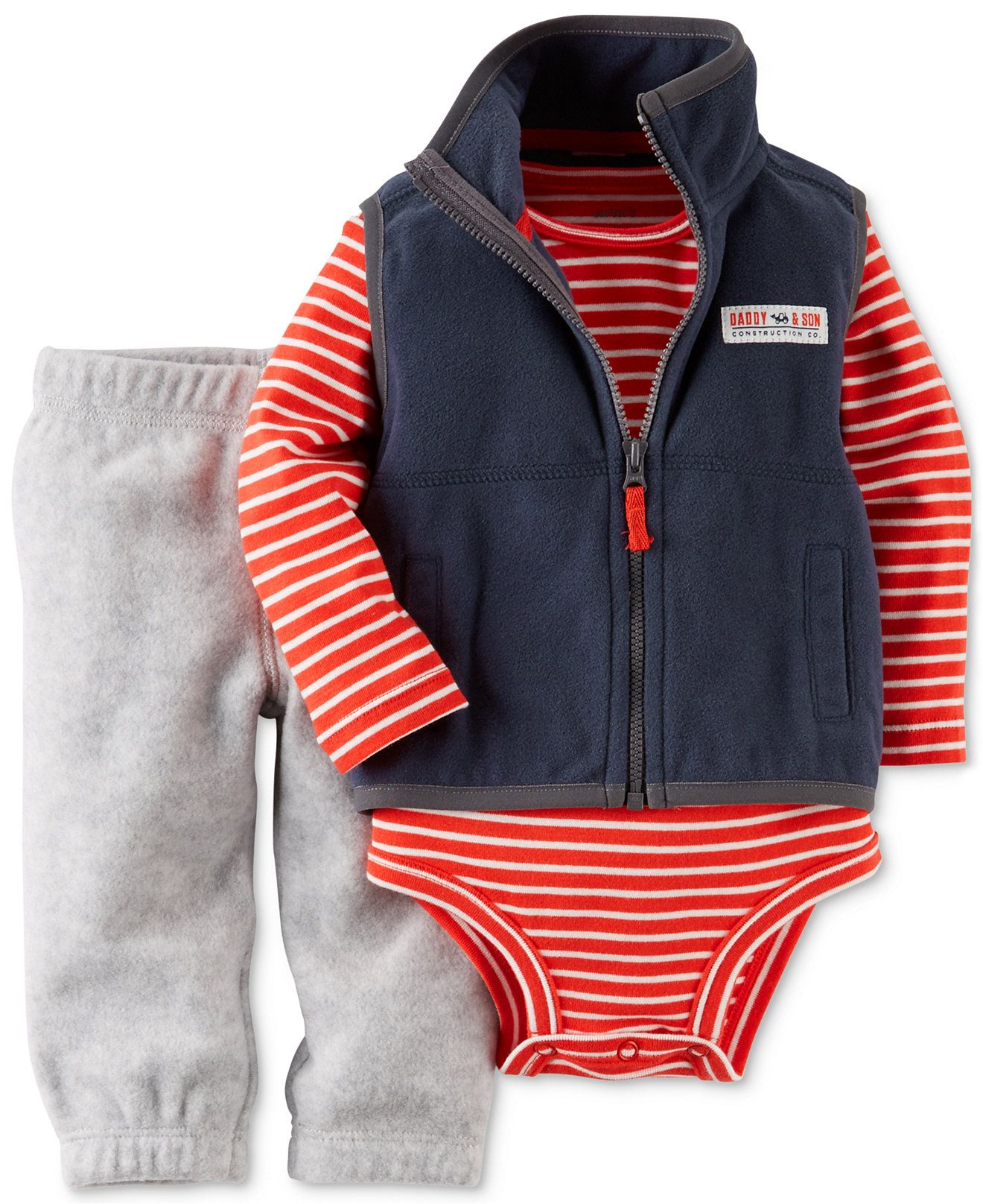 a66bbddb5a24 Carter s Baby Boys  3-Piece Vest