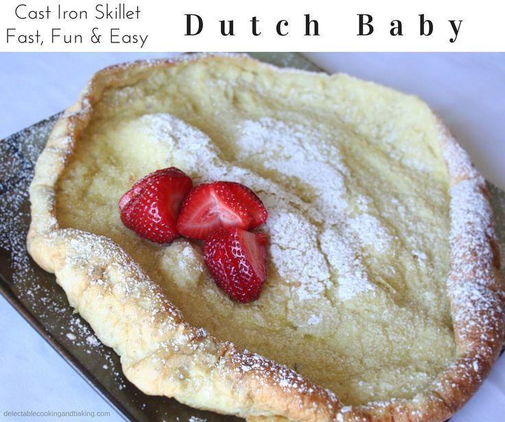 Dutch Baby Pancake Recipe - Cast Iron Skillet Dutch Babies ...