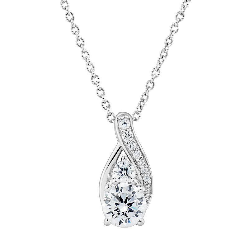 Diamonluxe 1 3 4 Carat T W Simulated Diamond Teardrop Pendant Necklace Pendant Necklace Pink Diamonds Engagement Diamond