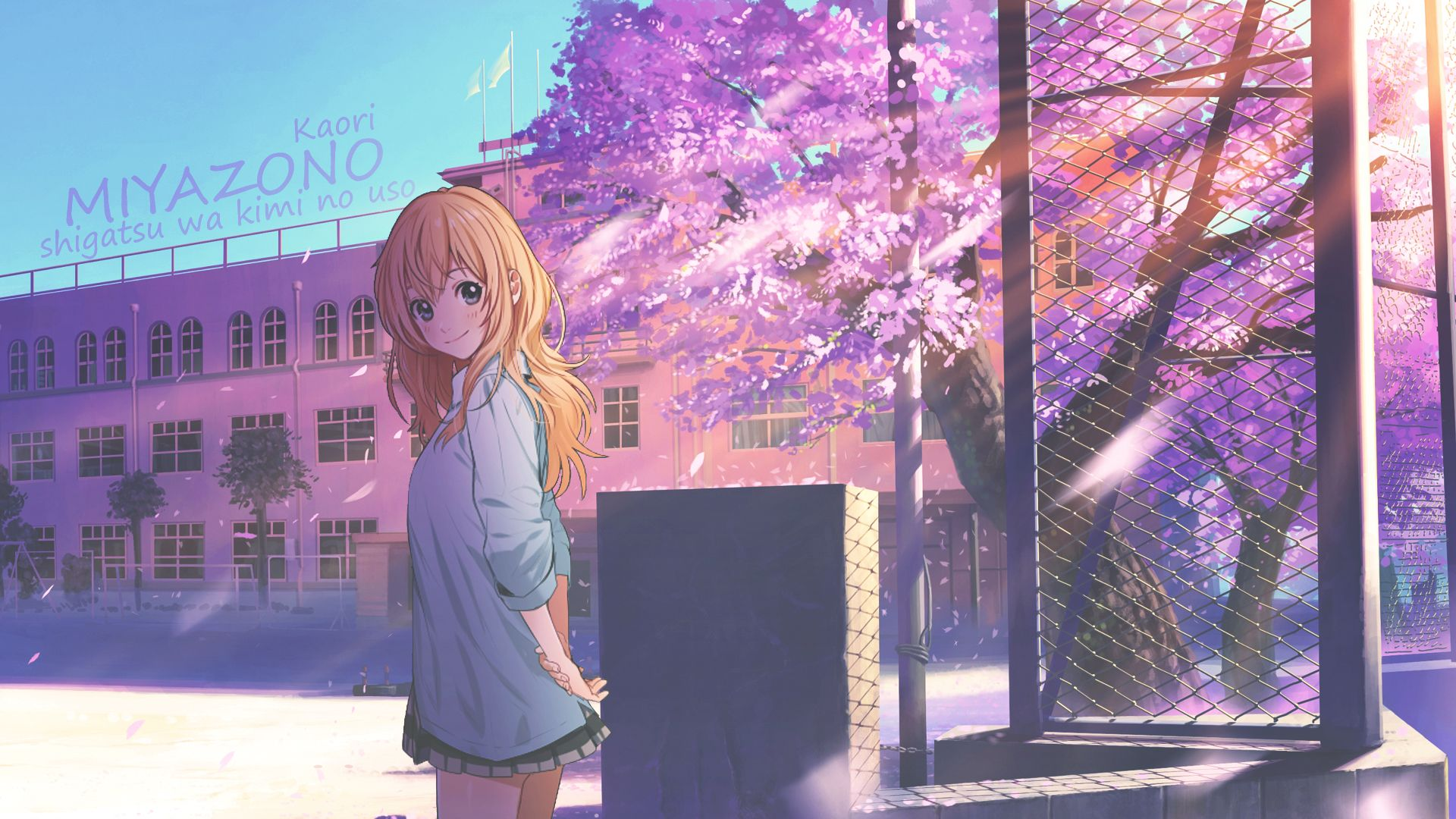 Your Lie In April Computer Wallpapers Desktop Backgrounds 1920x1080 Id 629528 Your Lie In April Kaori Miyazono Lie In April