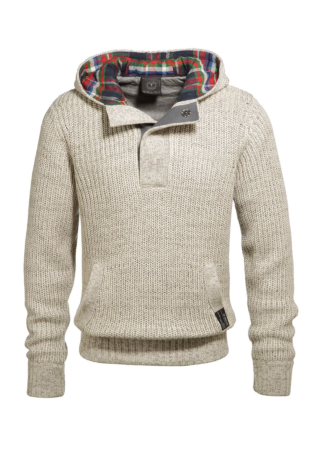 Hooded Sweater with Colorful Lining, very vintage nautical looking I like it