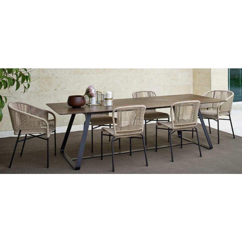 Varaschin Kolonaki Gartentisch Mit Stahlgestell 200 Cm