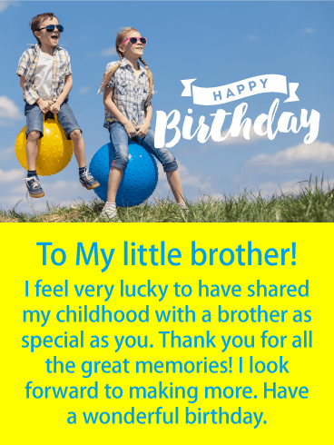 Little Brothers Are The Best And Worthy Of A Sensational Birthday