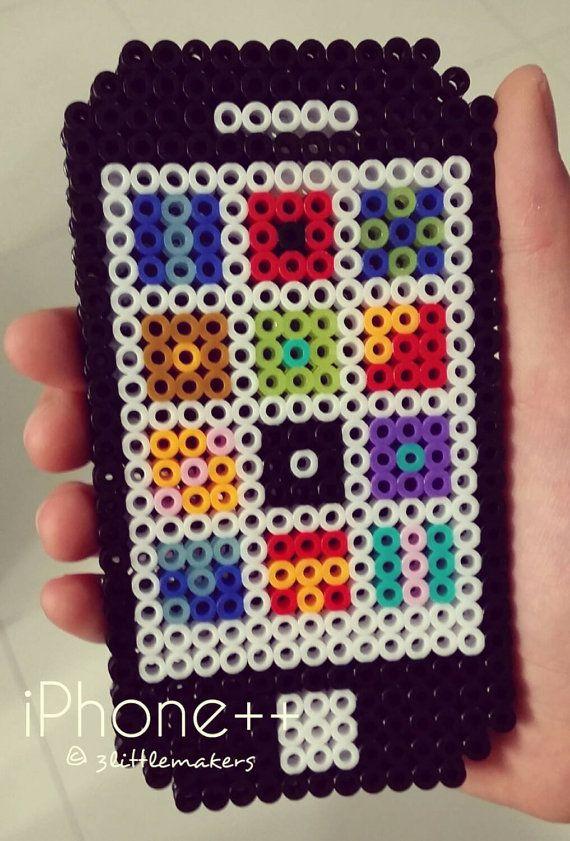 Iphone Perler Beads By 3littlemakers Helmi Pinterest