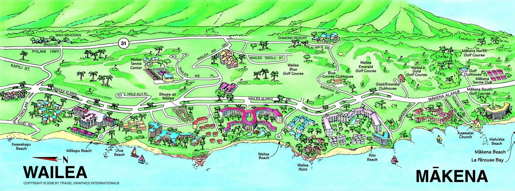 Wailea Beach Hotel Map The High Resolution Image Loads