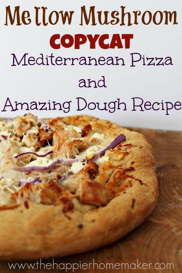 Homemade Mellow Mushroom Inspired Mediterranean Pizza