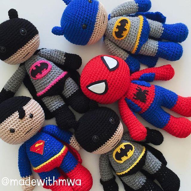 Crochet Super Heroes - Pic Idea | Amigurumi | Pinterest | Häkeltiere ...