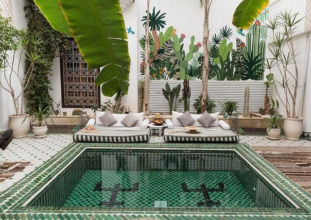 design visual mosaic pool pool