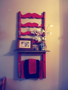 repurposed antique chair