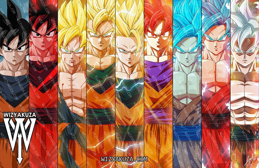 The Evolution Of A Hero Split Kameha Con Exclusive Wizyakuza Com Dragon Ball Wallpapers Dragon Ball Art Dragon Ball Super Goku