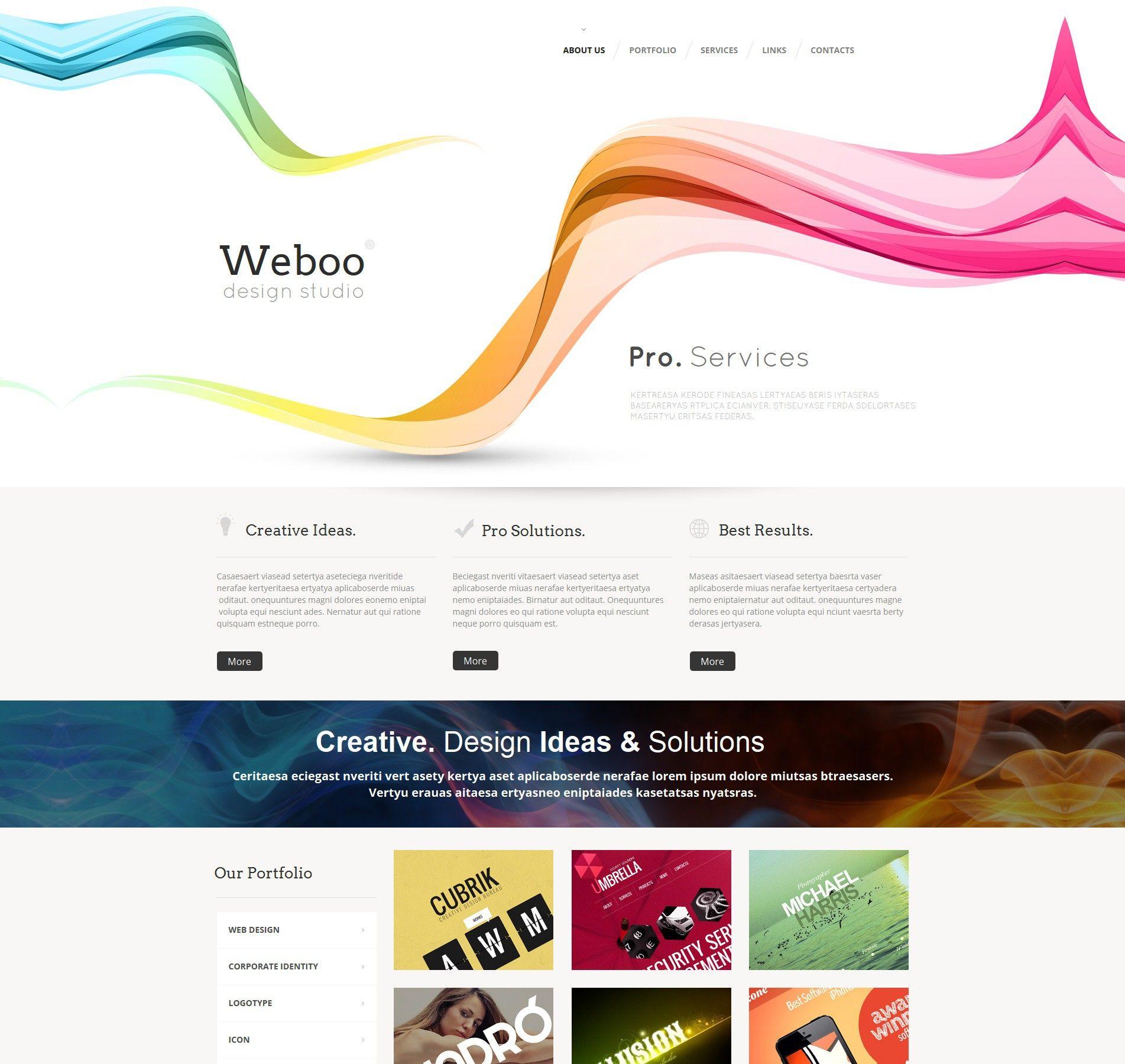 'Weboo Design' #webdesign for #MotoCMS HTML 47564 http://zign.nl/47564