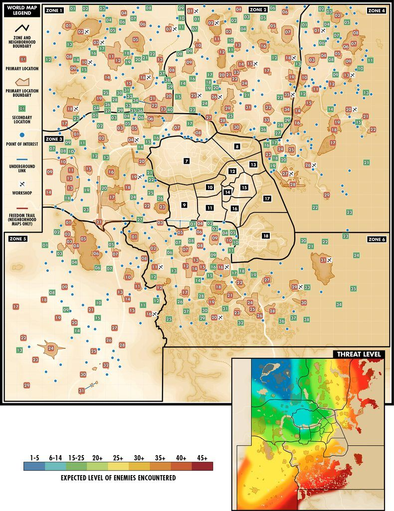 Fallout Settlements Map : fallout, settlements, Fallout, Detailed, Danger, Map/points, Interest., RandomOverload, Funny,, Fallout,
