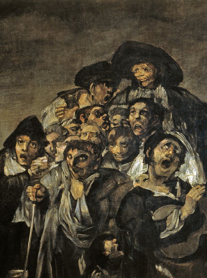 The Pilgrimage to San Isidro' (detail) by Francisco Goya, 1820-23 ...