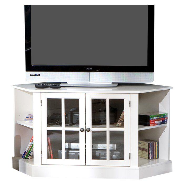 Sommerville 46 Tv Stand Corner Tv Stands White Corner Tv Cabinets Corner Tv Corner Tv Stands