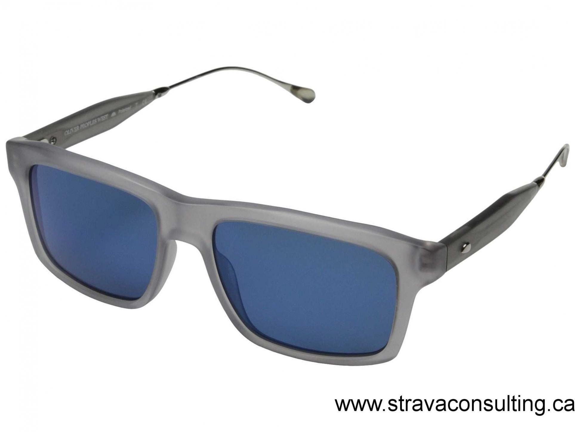 4f796227762 Unisex Eyewear Semi Matte Cool Grey Malibu Mirror Polarized Oliver Peoples  West Gaviota Semi Matte