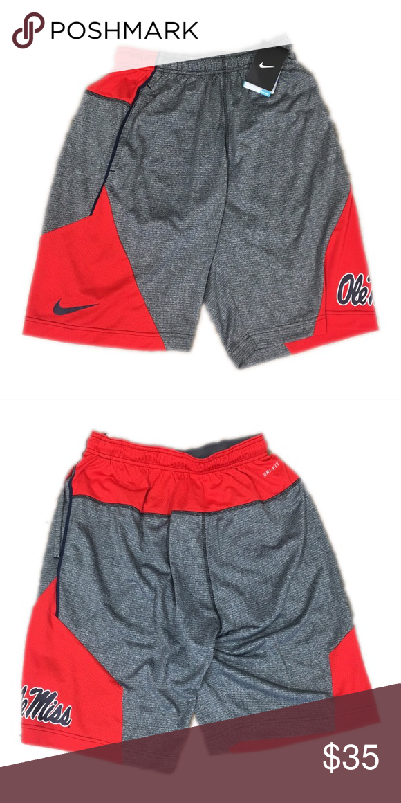 e0ba7b157 Ole Miss Rebels Nike Men's Fly 4.0 Shorts Small Brand new with tags  officially licensed Mississippi