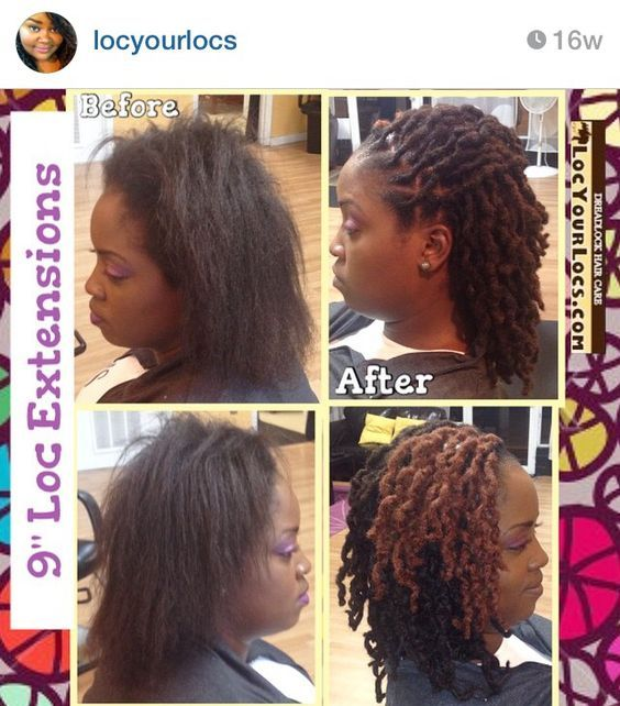 Beautiful what an amazing transformation i cut off the i cut off the clients relaxed hair and attached 9 inch loc extensions to her unprocessednatural hair im in love with the final look pmusecretfo Gallery
