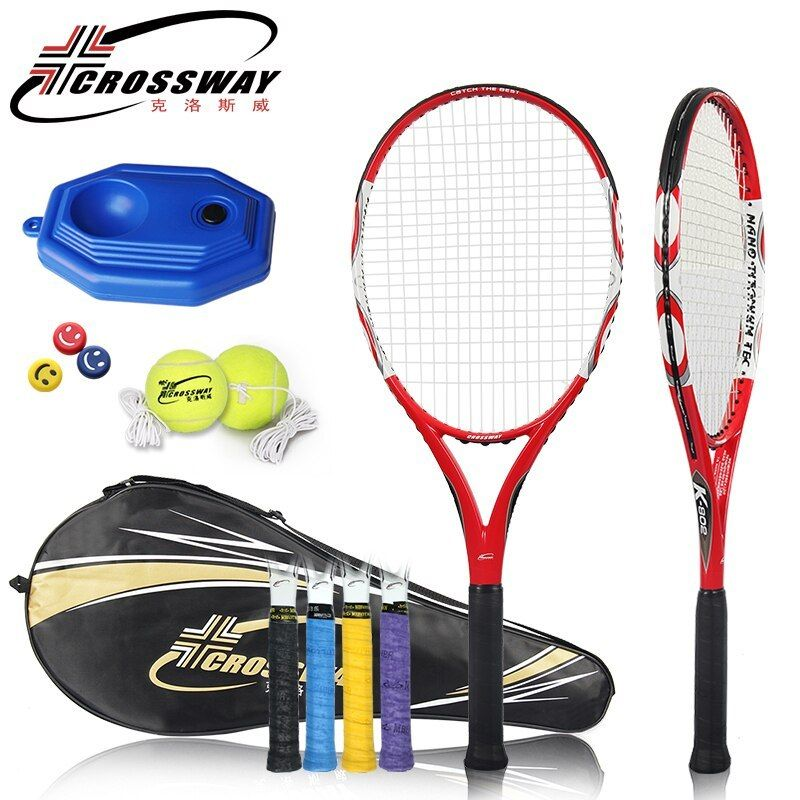 Crossway Professional Tennis Racket Ultra Light Full Carbon Tennis Paddle Integrated Training Game Racket Shock A Tennis Racket Outdoor Sports Equipment Tennis
