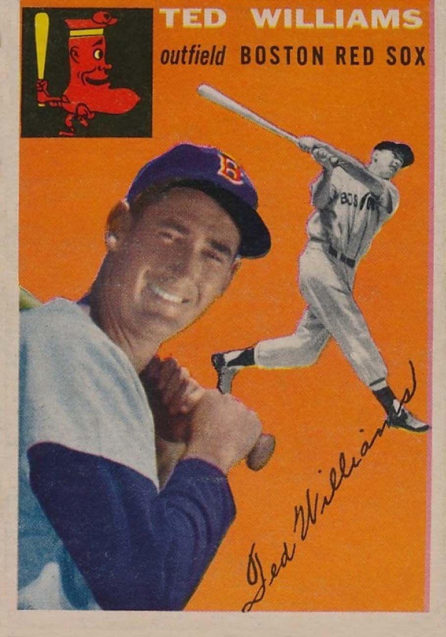 1954 topps 1 ted williams baseball cards baseball old
