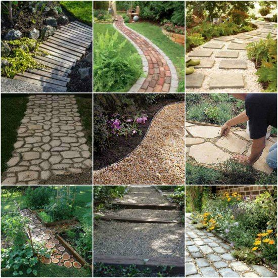 Making A Wonderful Garden Path Ideas Using Stones: Creating A Garden Path To An Outdoor Oasis Can Be Done In