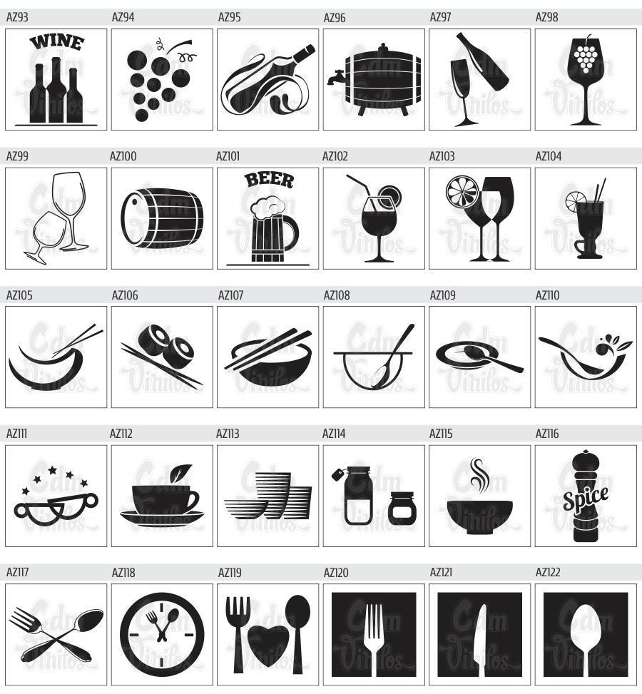 Cdm vinilos decorativos y publicitarios pack de vinilos - Vinilos de cocina ...