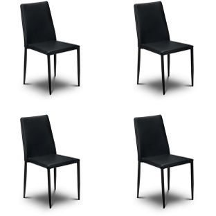stacking dining chairs uk rocking chair pads cushions buy 4 x jazz black at argos co visit to shop online for