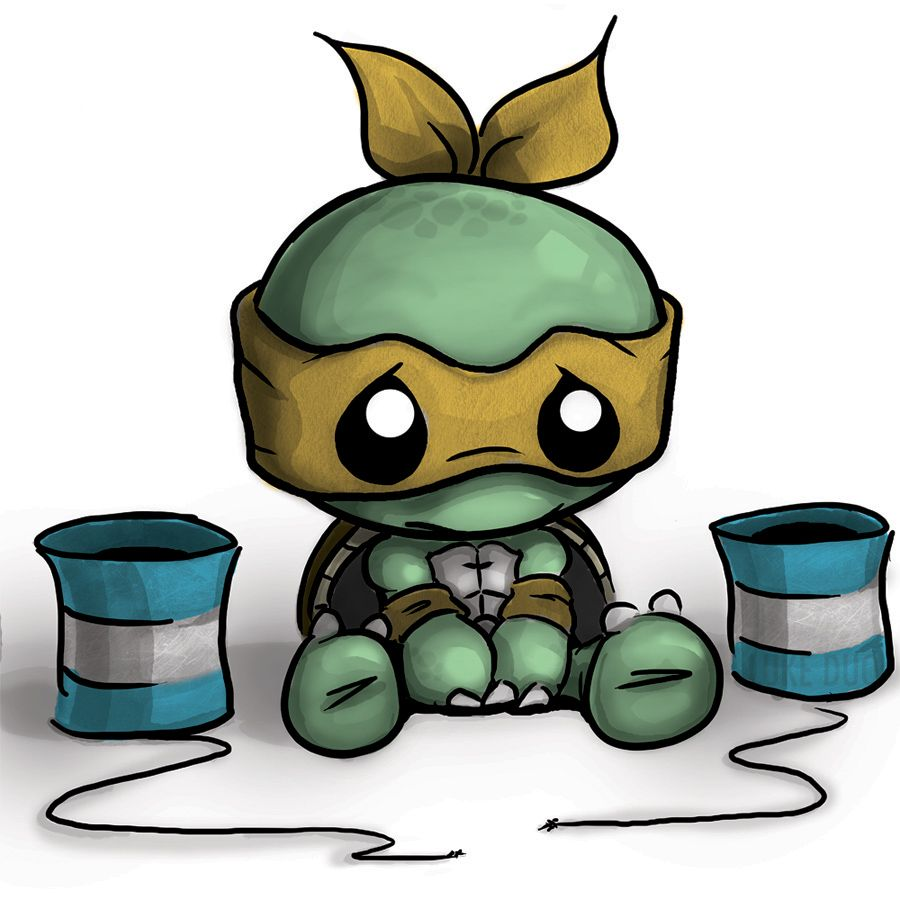Toddler Mutant Ninja Turtles by artistjerrybennett on ...   Baby Ninja Turtles Drawings