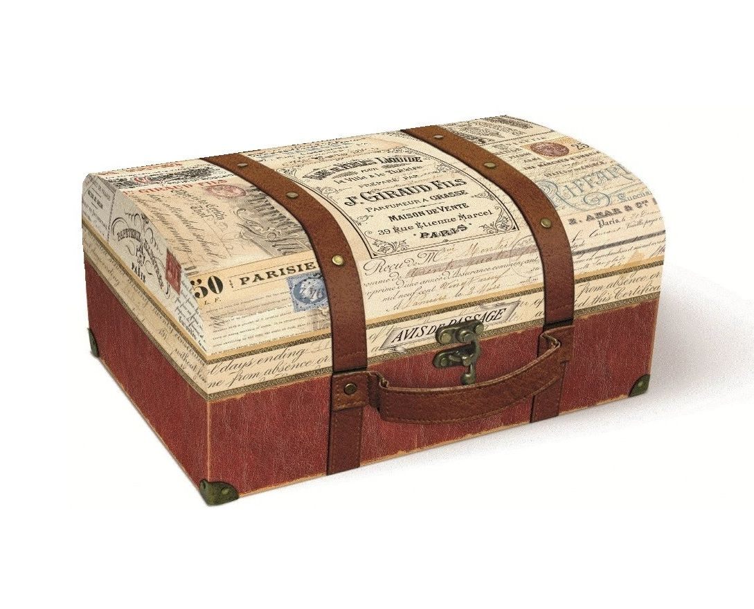 Punch Studio Vintage Style Suitcase Storage Box Tk Maxx