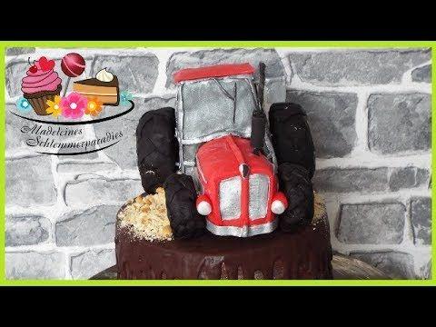 Traktor Aus Fondant I Selber Modellieren I Diy Madeleines Schlemmerparadies Traktor Torte Motivtorte Motivtorten Traktor