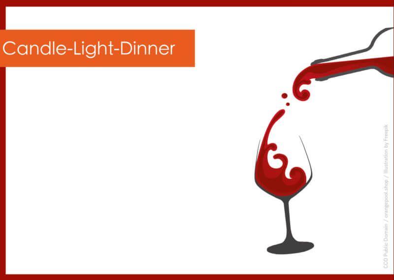 Vorlage Geschenkgutschein Candle Light Dinner Ruckseite Geschenkgutscheine Abendessen Bei Kerzenschein Gutscheine