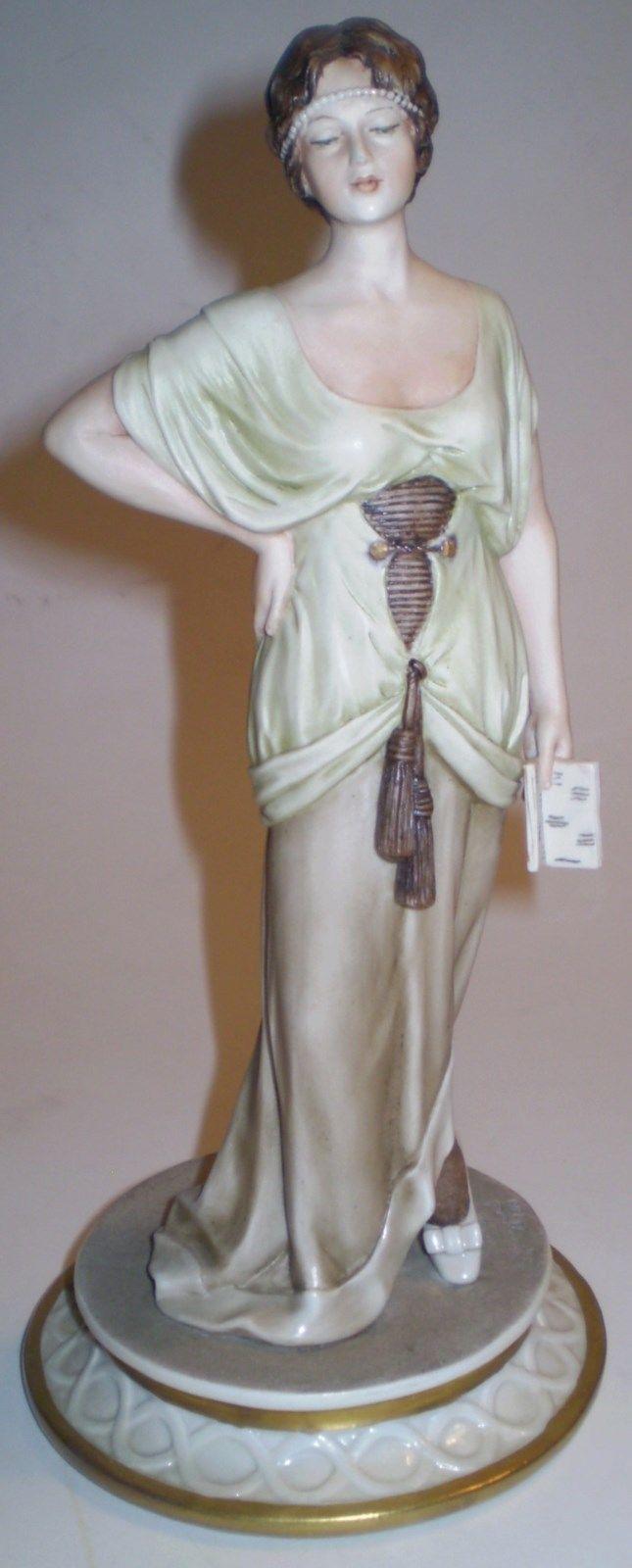 Sandro Maggioni Art Deco Lady Figurine Signed 1973 Made In