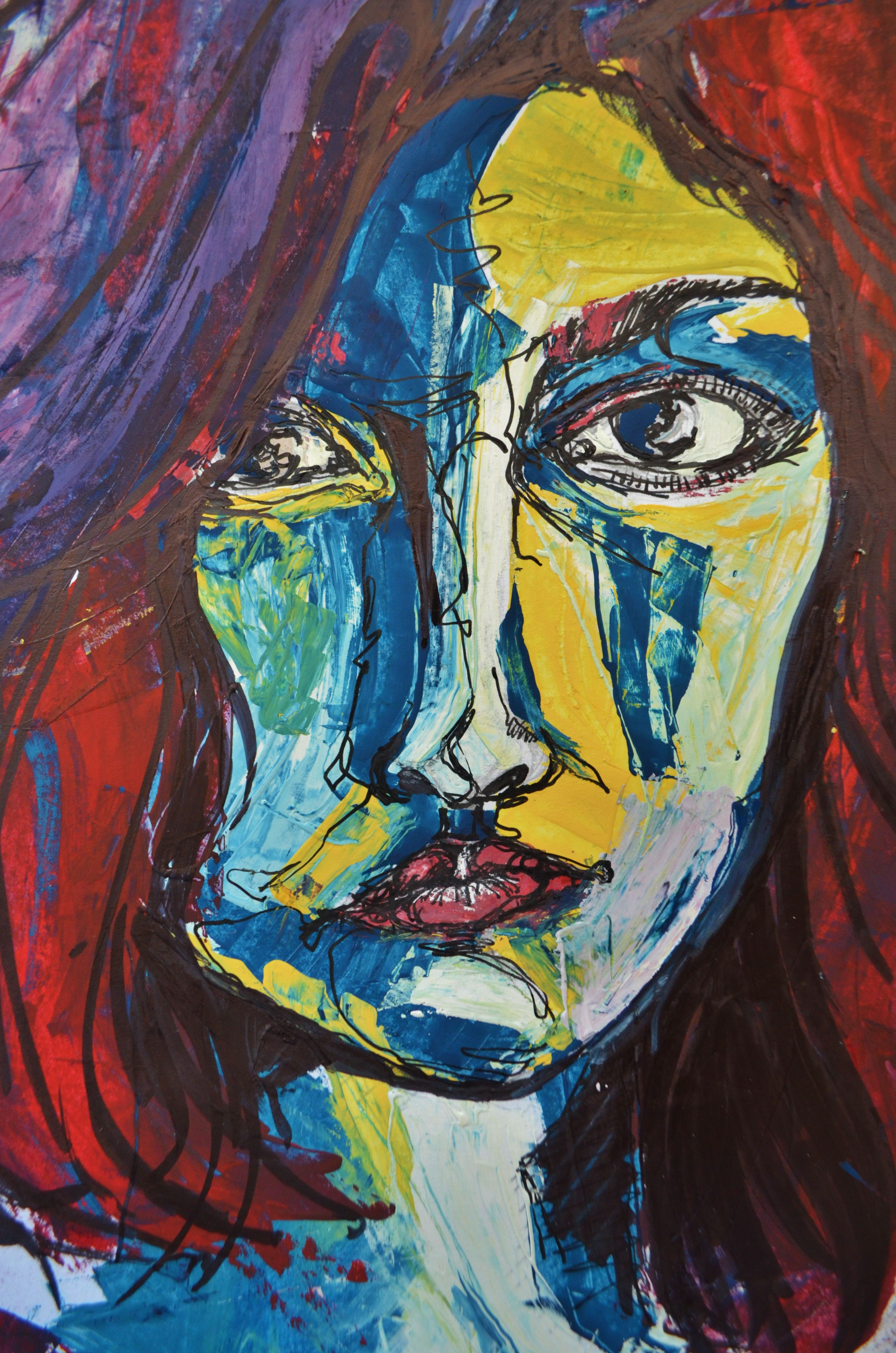 Gouache Portrait By Bahira Motaz Shaheen