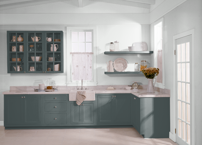 Midnight In Ny Behr Color Home Kitchen Cabinets House