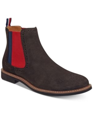 1daec88b5dc51 TOMMY HILFIGER MEN S GAINER SUEDE CHELSEA BOOTS MEN S SHOES.  tommyhilfiger   shoes