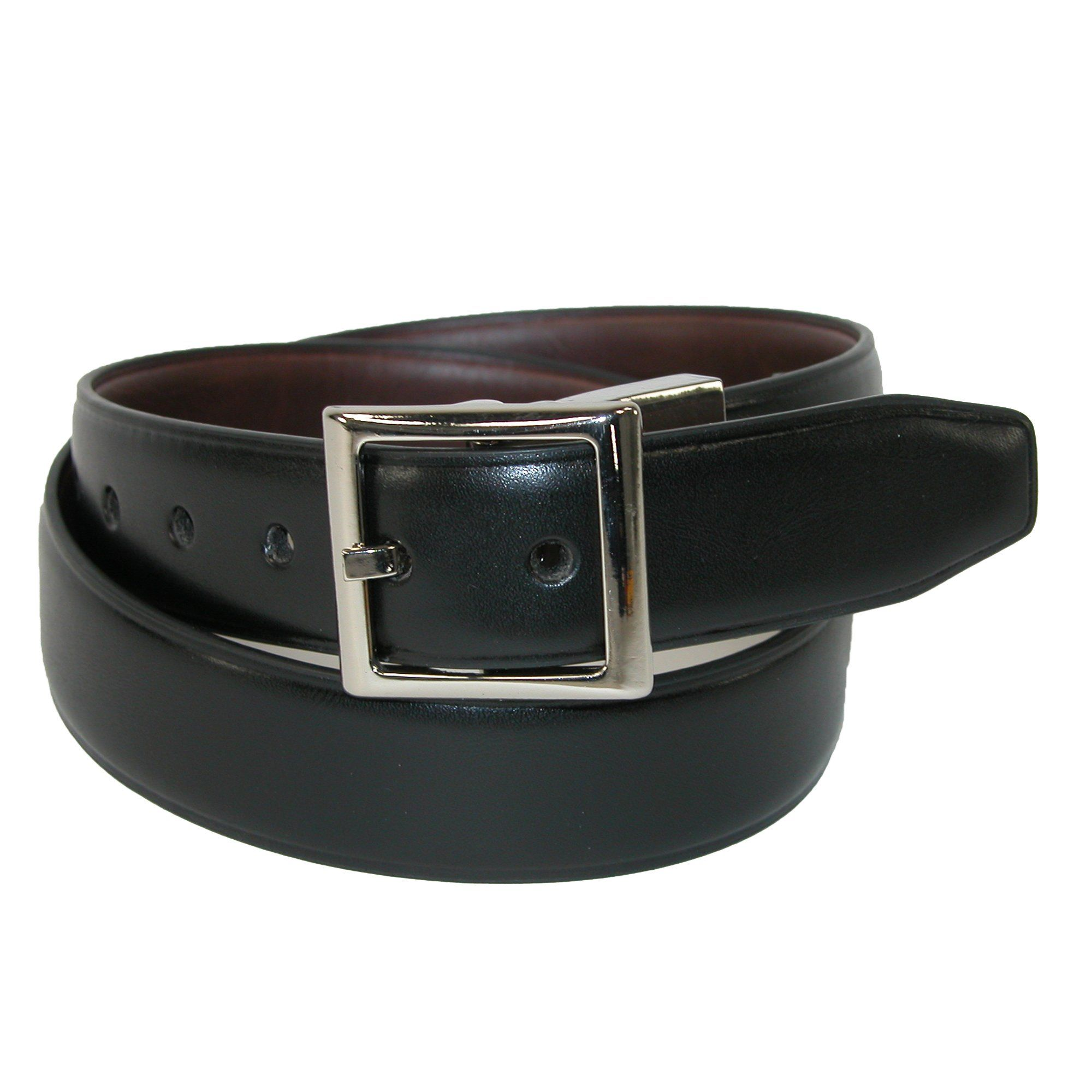 New Dockers Boys/' Leather Feather Edge 1 Inch Reversible Belt