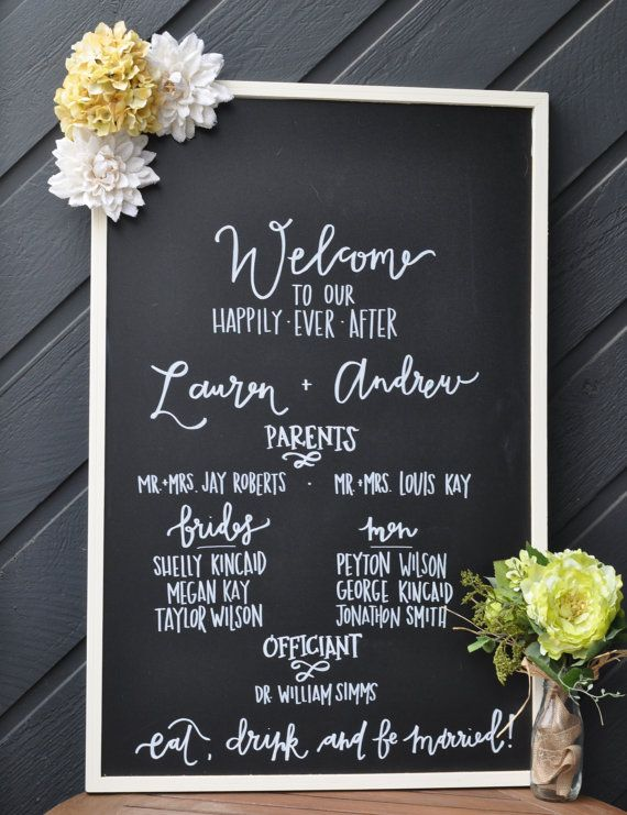 Hey I Found This Really Awesome Etsy Listing At Https Www 177688430 Wedding Program Chalkboard 23x35