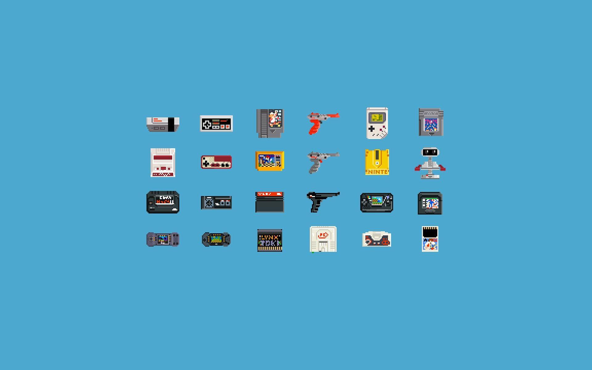 General 1920x1200 Video Games Consoles Pixel Art 8 Bit Nintendo