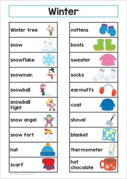 Winter word wall winter words writing centers and prompts winter word wall sciox Gallery