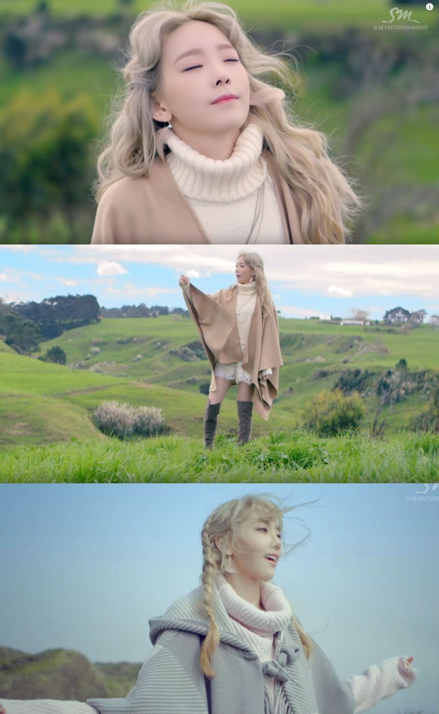 "Taeyeon's Bohemian Look in Her 1st Single Album Music Video ""I"""