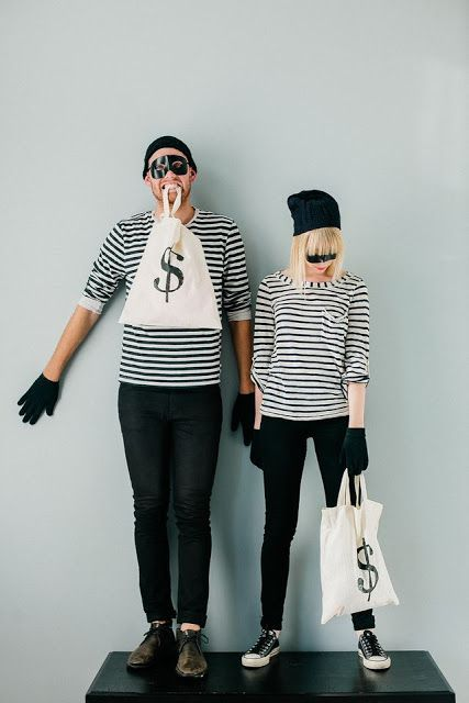 Halloween Costume Ideas for Couples \u2014 bank robbers And their theme
