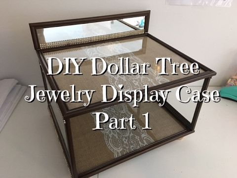 DIY Dollar Tree Jewelry Display Case YouTube Dream Room