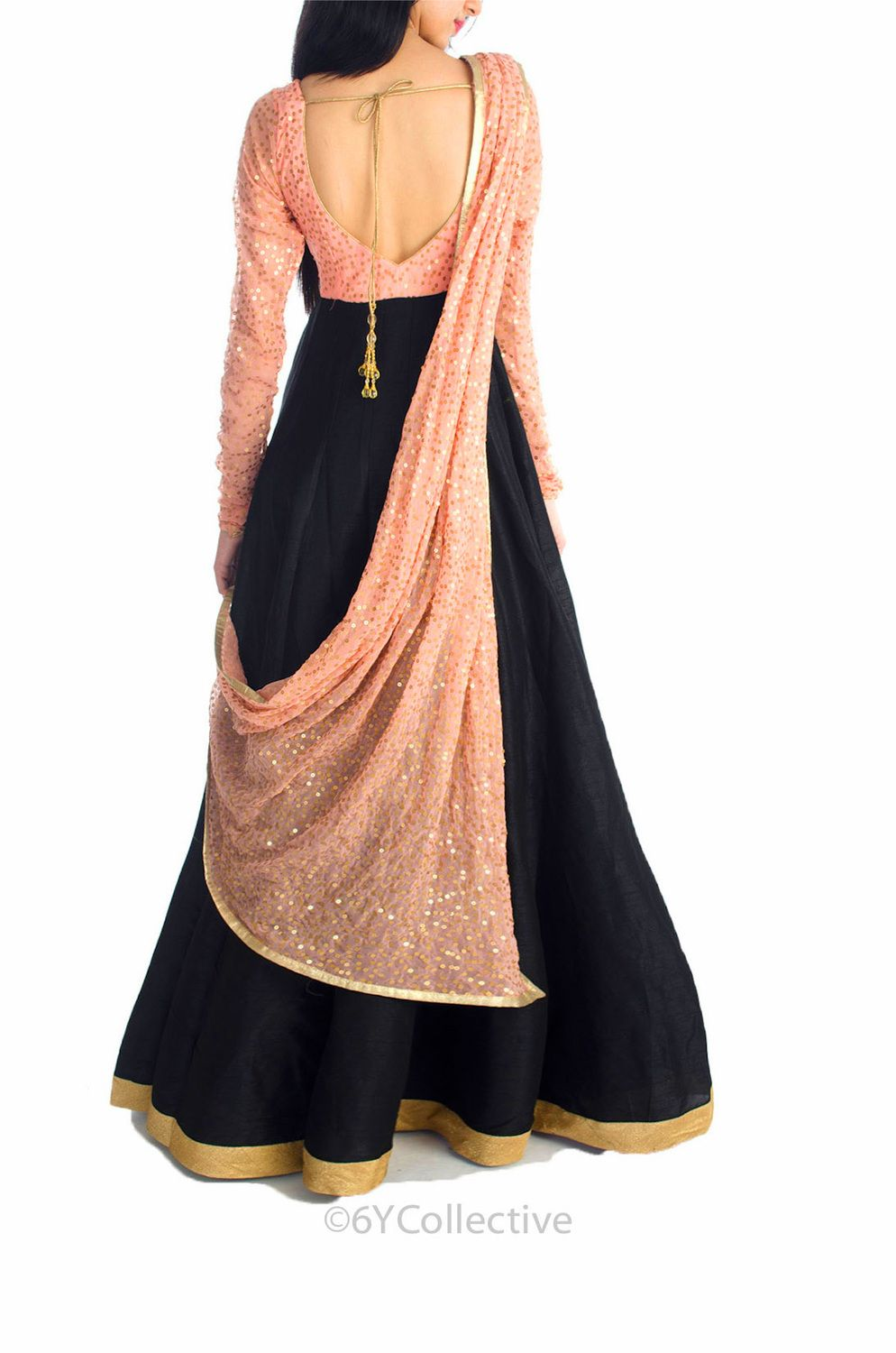 Floor length anarkali by 6y collective fashion kurtas for Floor length suits